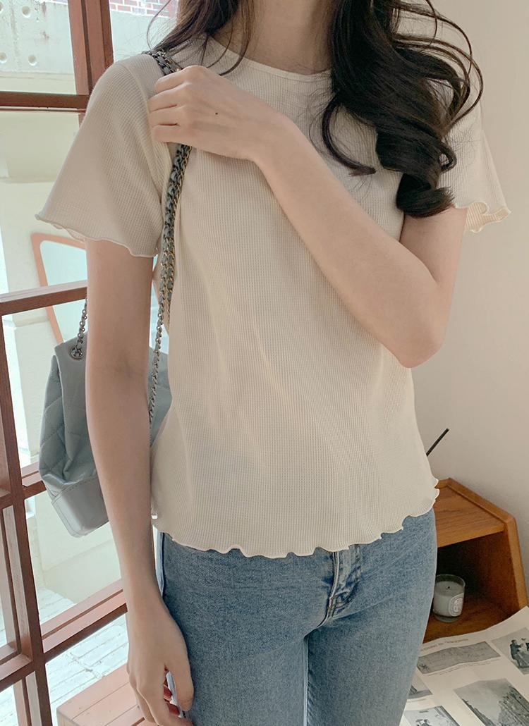 メロウヘム半袖Tシャツ