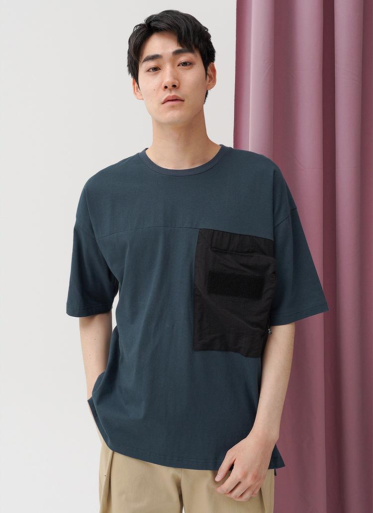 ポケットディテールTシャツ・全4色