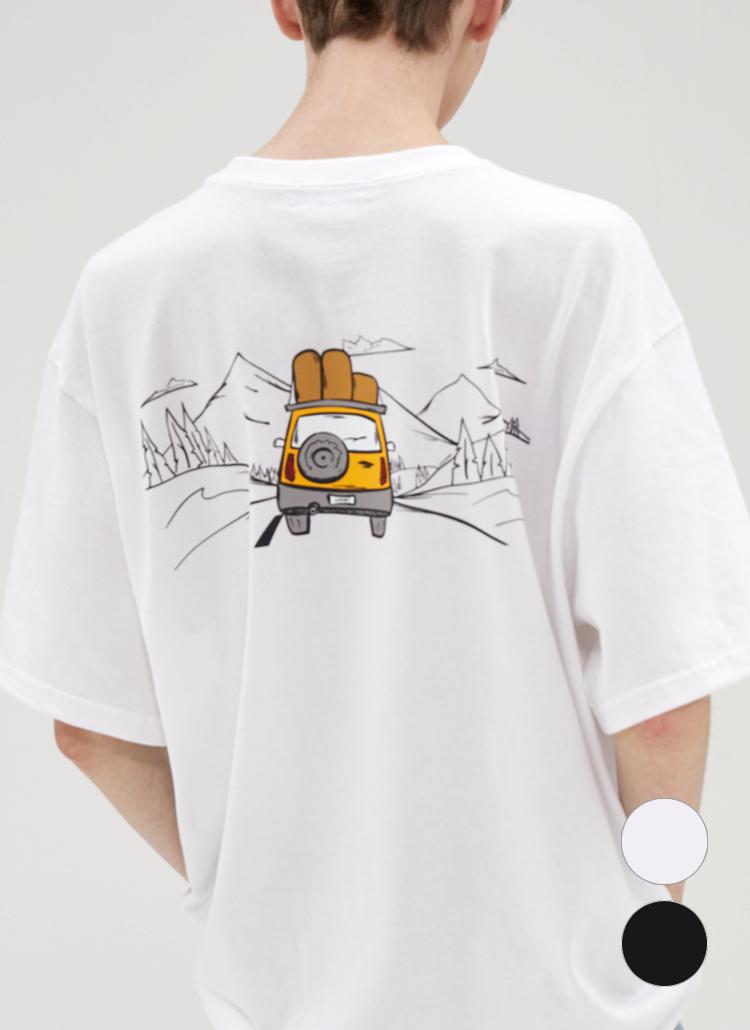 カープリント半袖Tシャツ