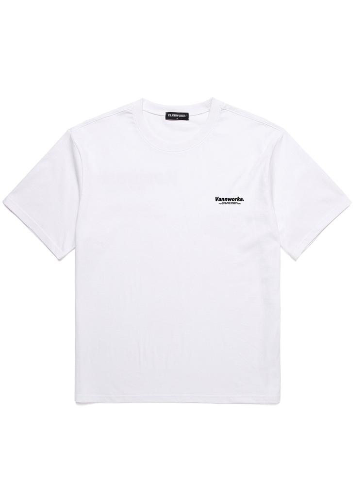 ミニサイドレタリング半袖Tシャツ(WHITE)