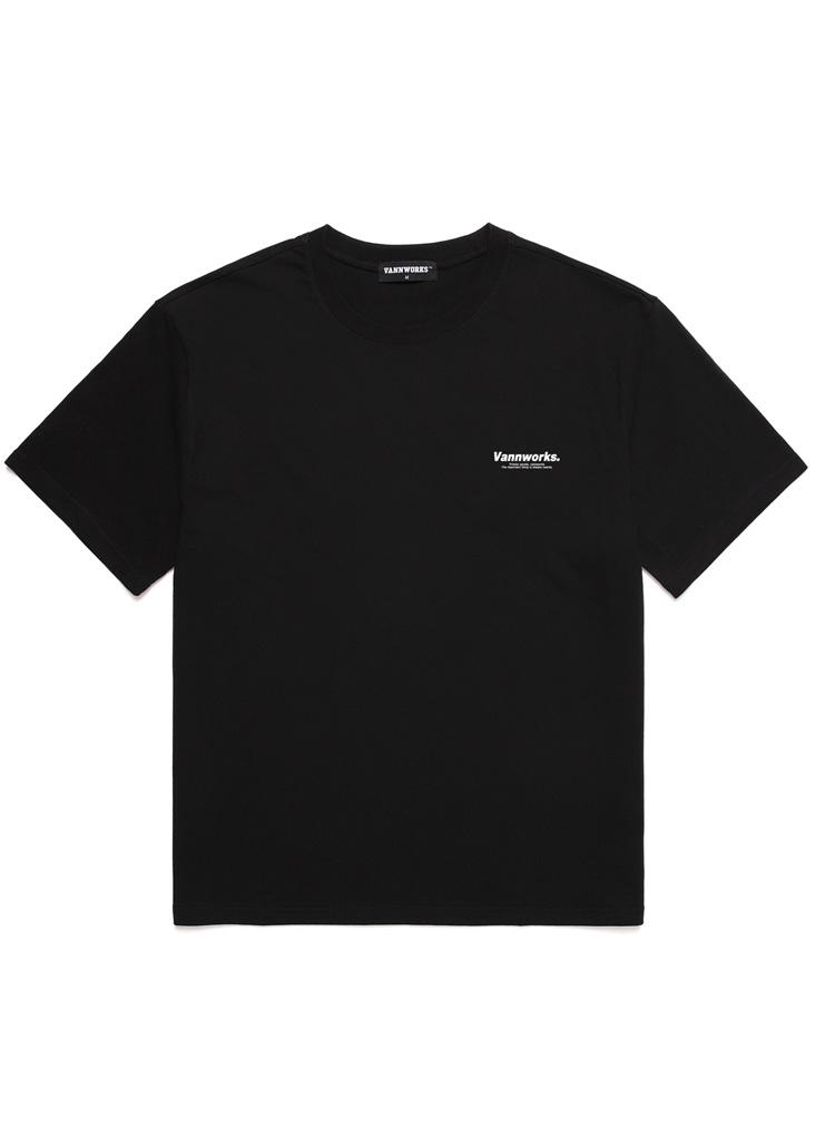 ミニサイドレタリング半袖Tシャツ(BLACK)