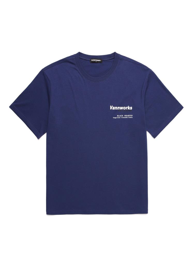 バックサイドプリントTシャツ(D/BLUE)