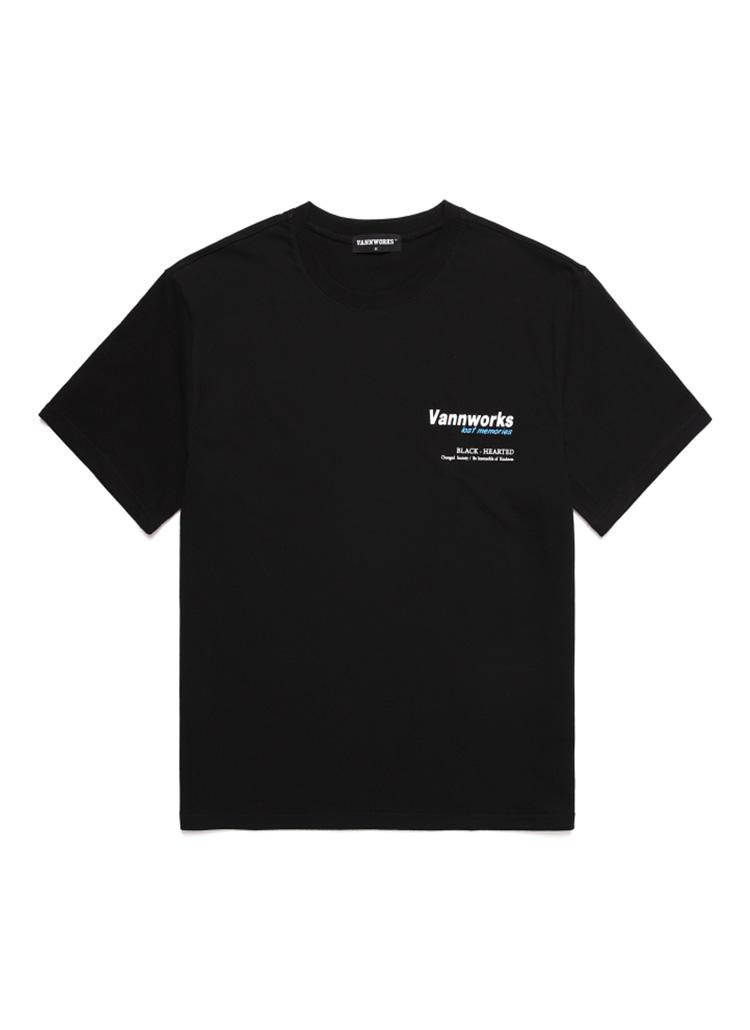 バックサイドプリントTシャツ(ブラック)