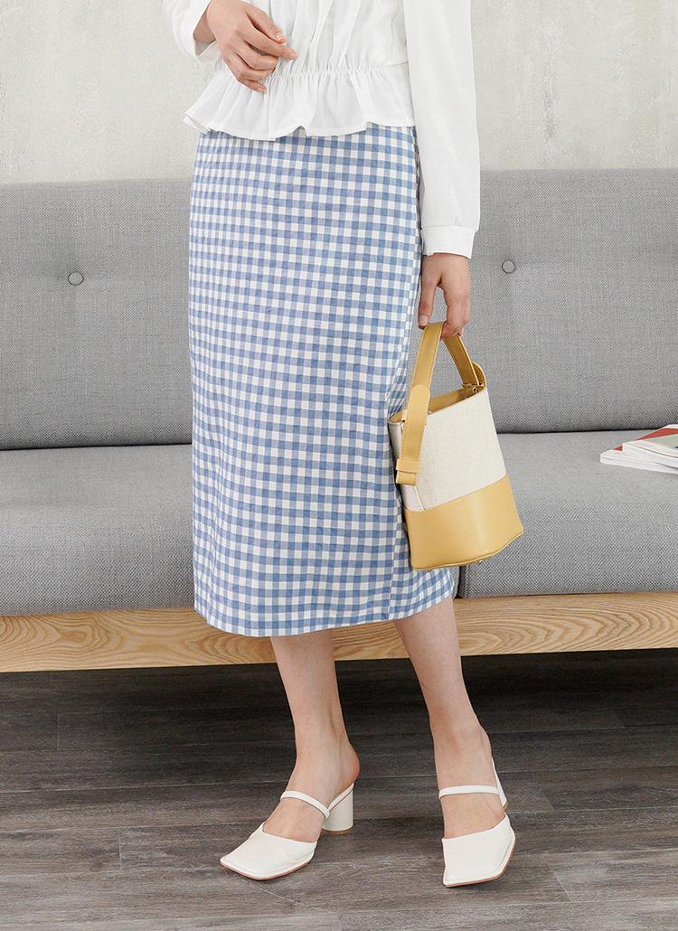 ギンガムタイトスカート・全2色