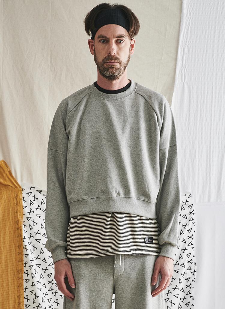 クロップドスウェット(gray)