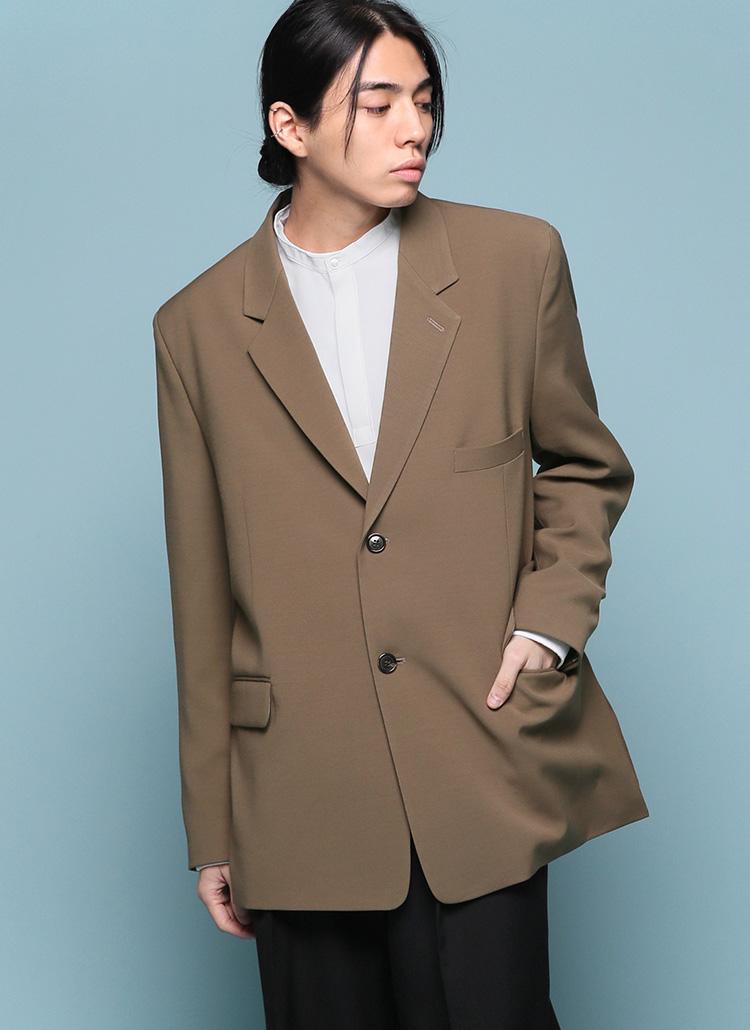 サイドスリットシングルジャケット・全4色