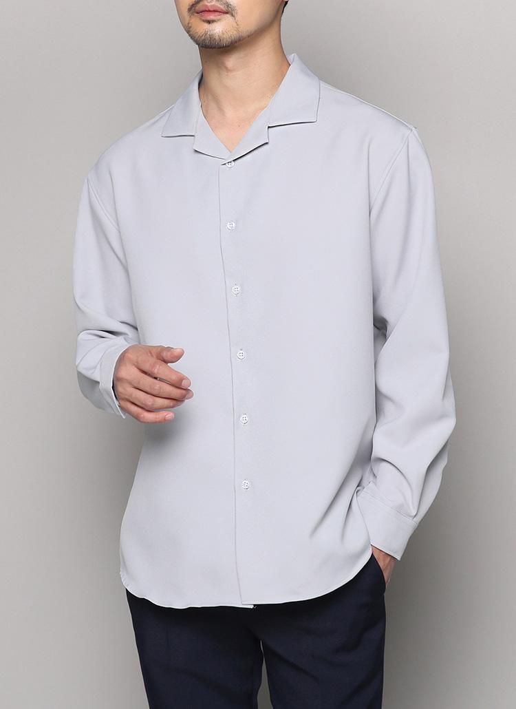 2TYPEオープンカラーシャツ・全7色