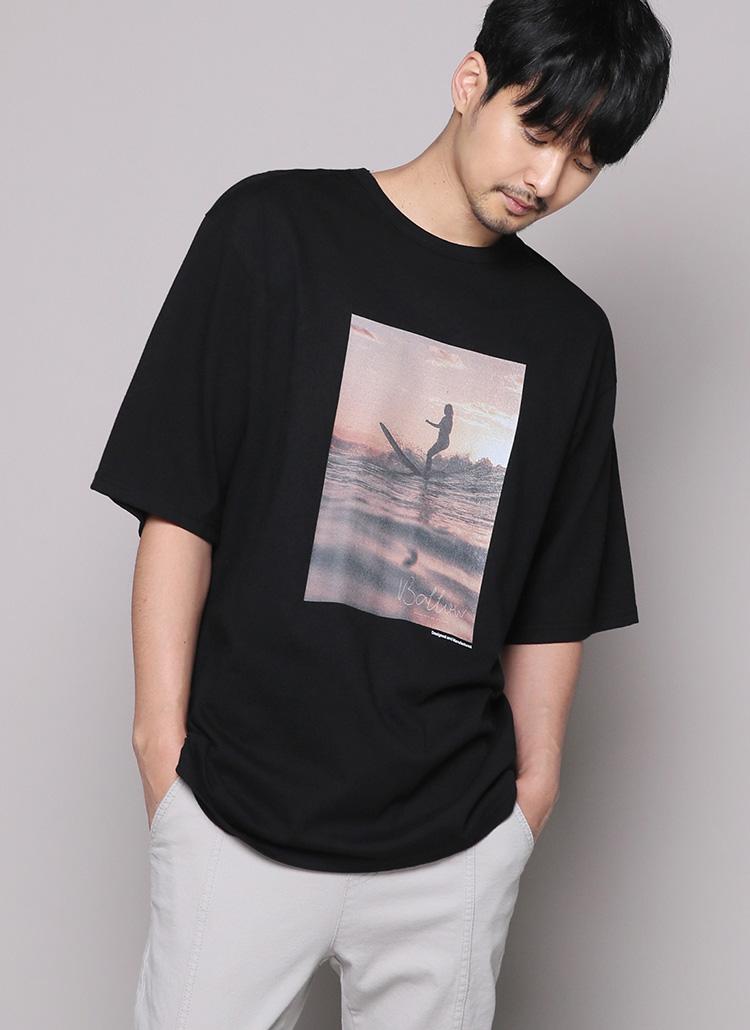 サーフィンプリント半袖Tシャツ・全2色