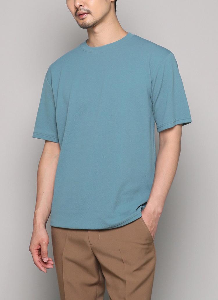 リンクルラウンドハーフスリーブTシャツ・全8色