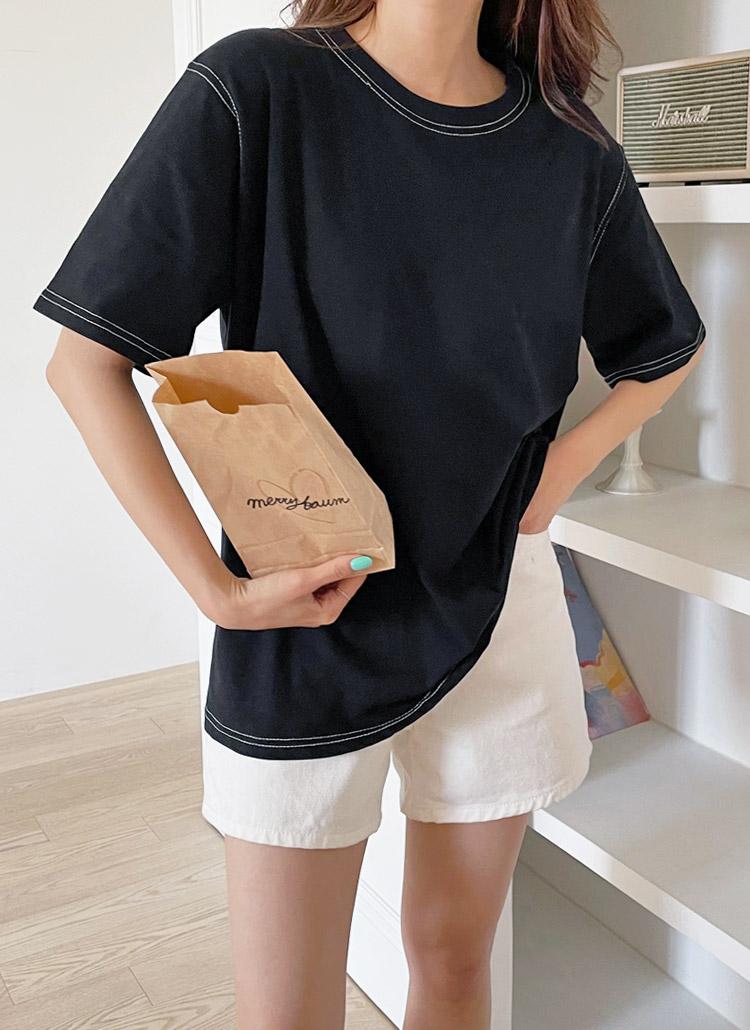 ステッチ半袖Tシャツ