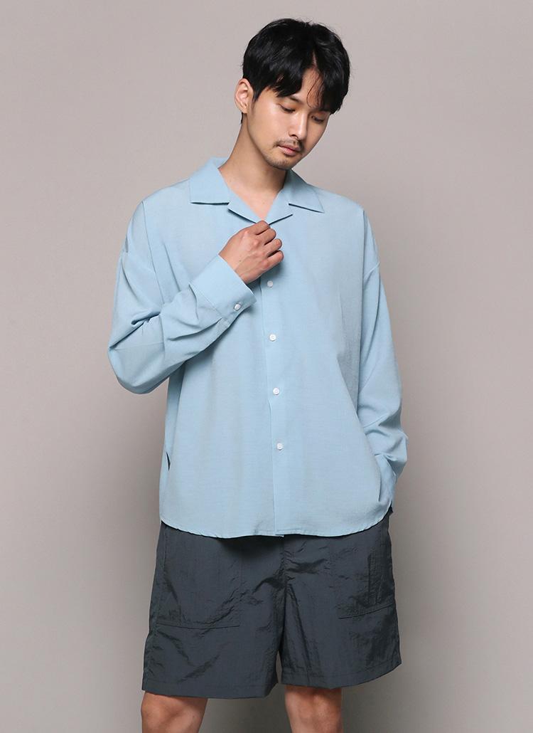 オーバーフィットオープンカラーシャツ・全5色