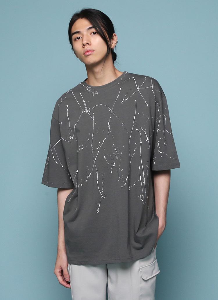 ハンドペイント半袖Tシャツ・全4色