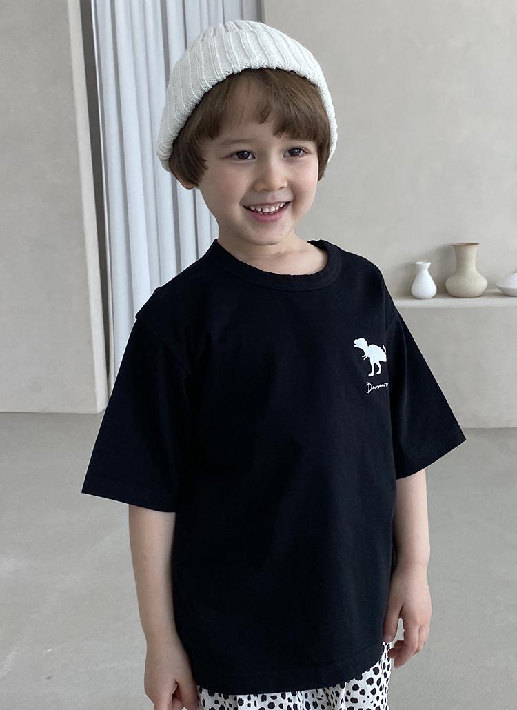 ワンポイントダイナソー半袖Tシャツ