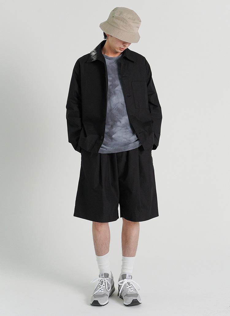 ワンポケットシャツジャケット&イージーハーフパンツSET・全2色