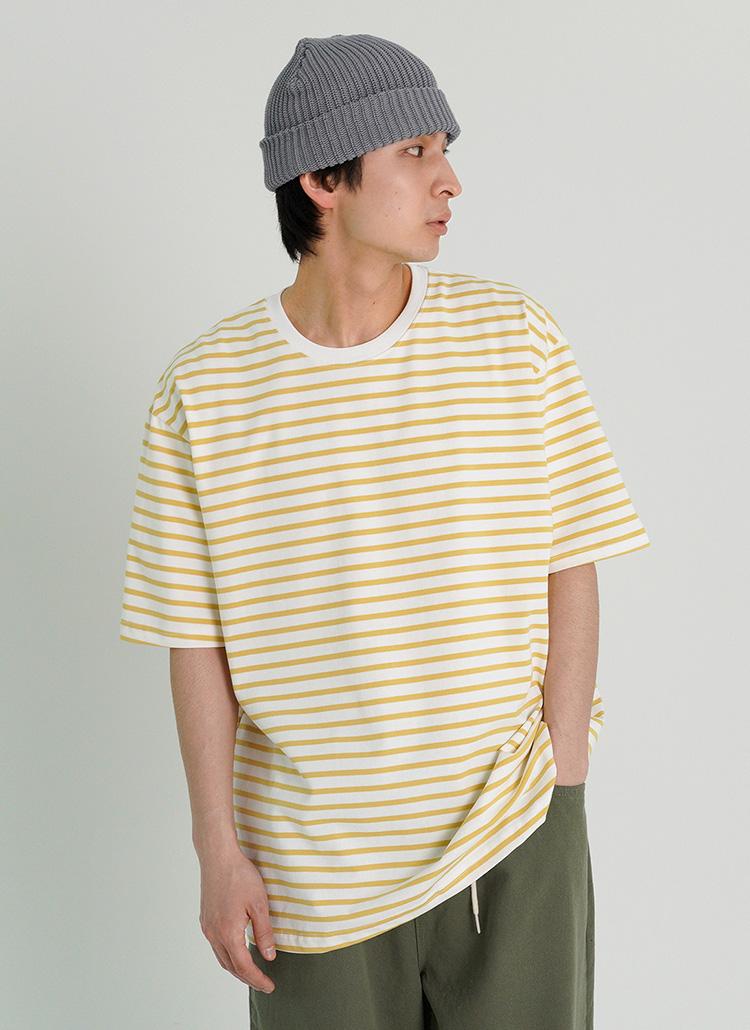 ルーズシルエットボーダーTシャツ・全4色
