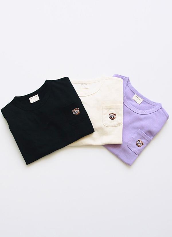 ベアー刺繍ハーフスリーブTシャツ(junior)