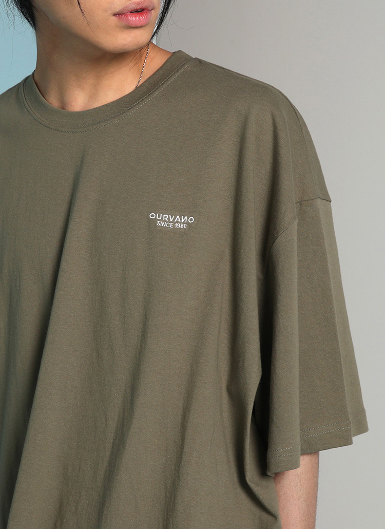 OURVANO刺繍ハーフスリーブTシャツ・全7色