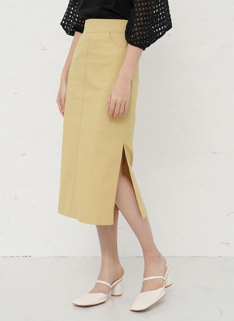 サイドスリットタイトスカート・全3色