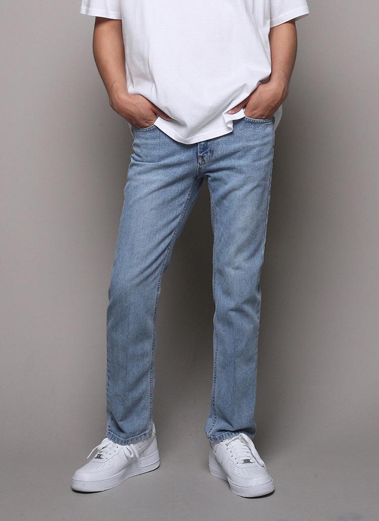 ベーシックストレートジーンズ・全2色
