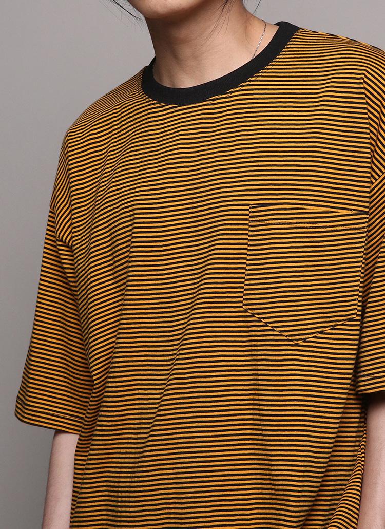 ボーダーポケット半袖Tシャツ・全5色