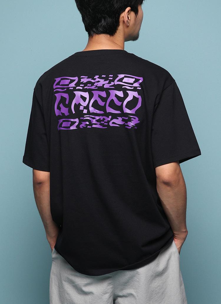 GREEDプリント半袖Tシャツ・全6色