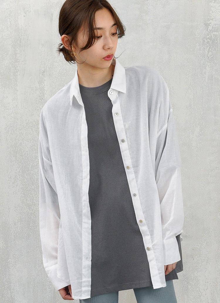 ルーズシアーシャツ・全3色