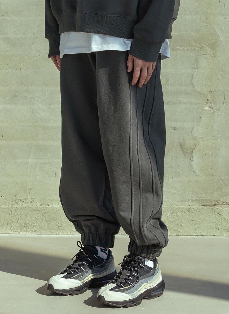 トリプルラインジョガーパンツ(Dark gray)