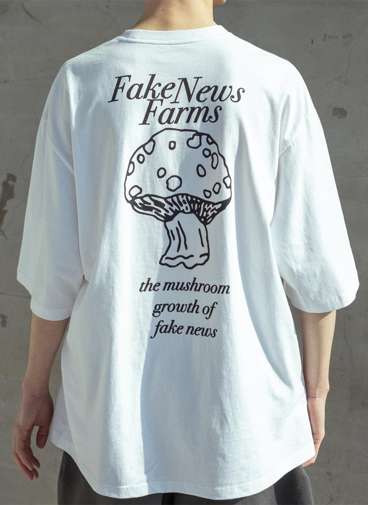 バッグプリントレタリングTシャツ(WHITE)