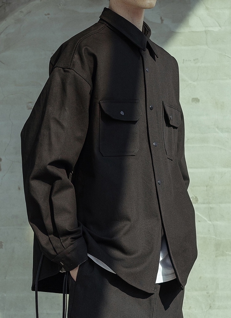サイドストラップシャツ(BLACK)
