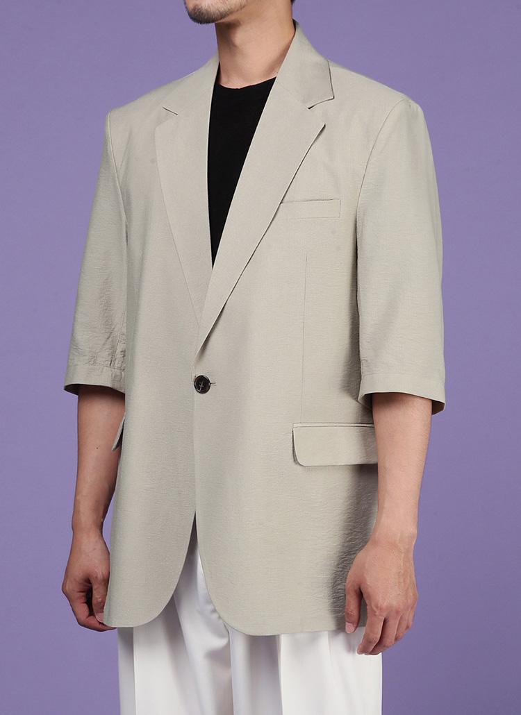 半袖ワンボタンジャケット・全2色