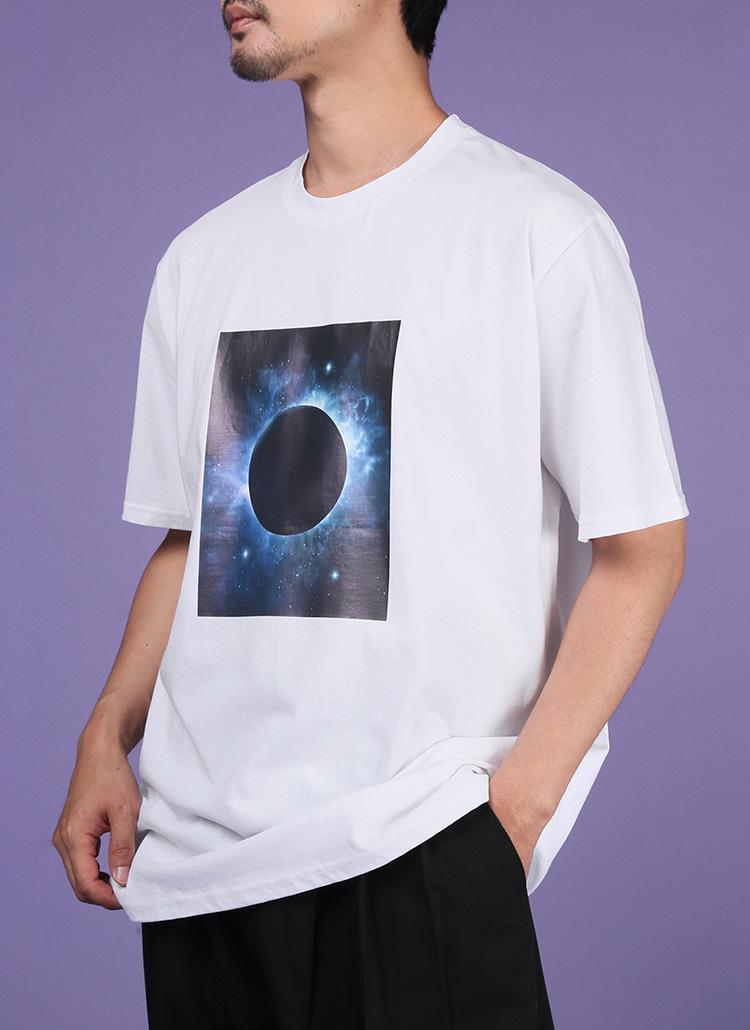 スペースプリント半袖Tシャツ・全2色