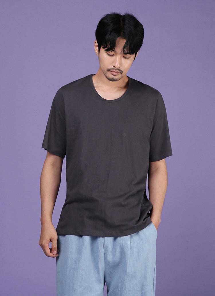 Uネック半袖Tシャツ・全8色