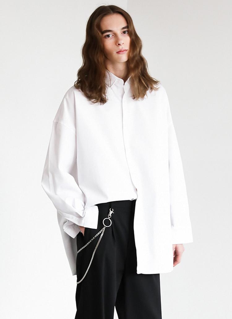 ベーシックコットンシャツ(WHITE)