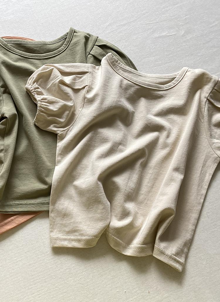 パフスリーブ半袖Tシャツ