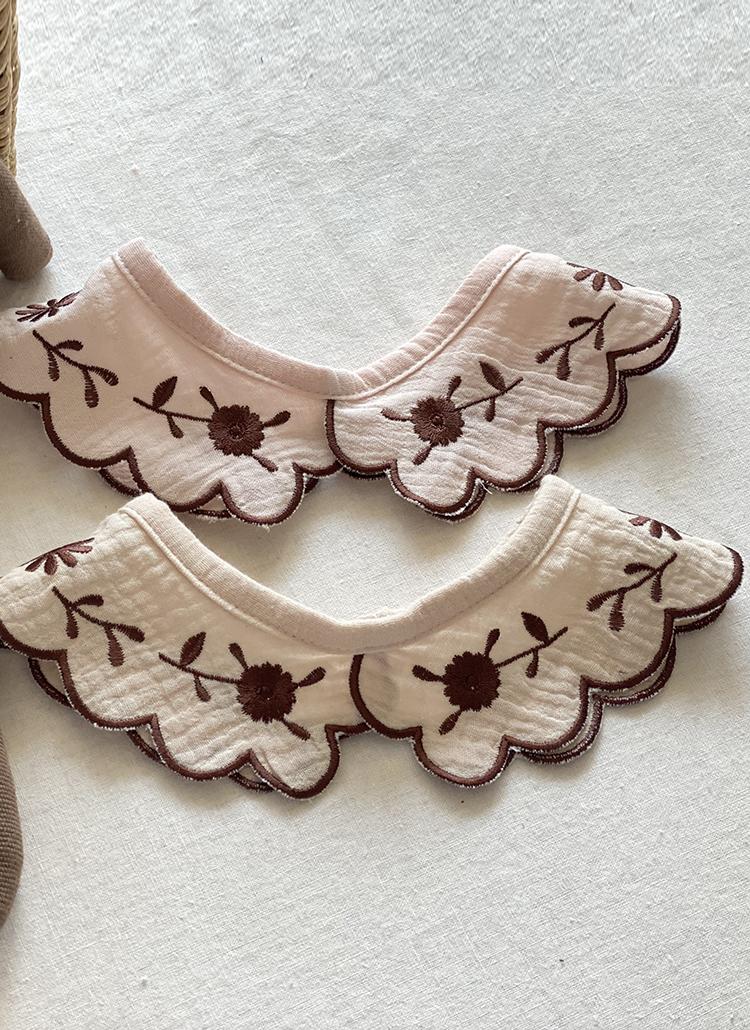 フラワー刺繍付け襟