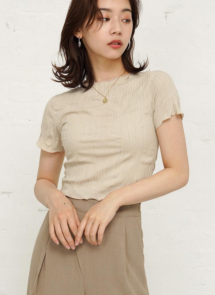 リンクルショートTシャツ・全3色