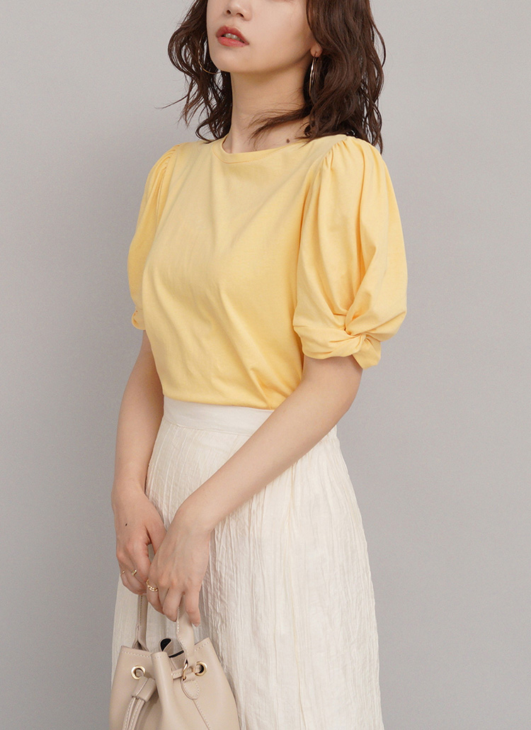 パフスリーブTシャツ・全3色