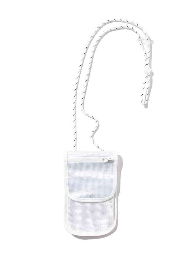 ジップフラップミニショルダーバッグ(WHITE)