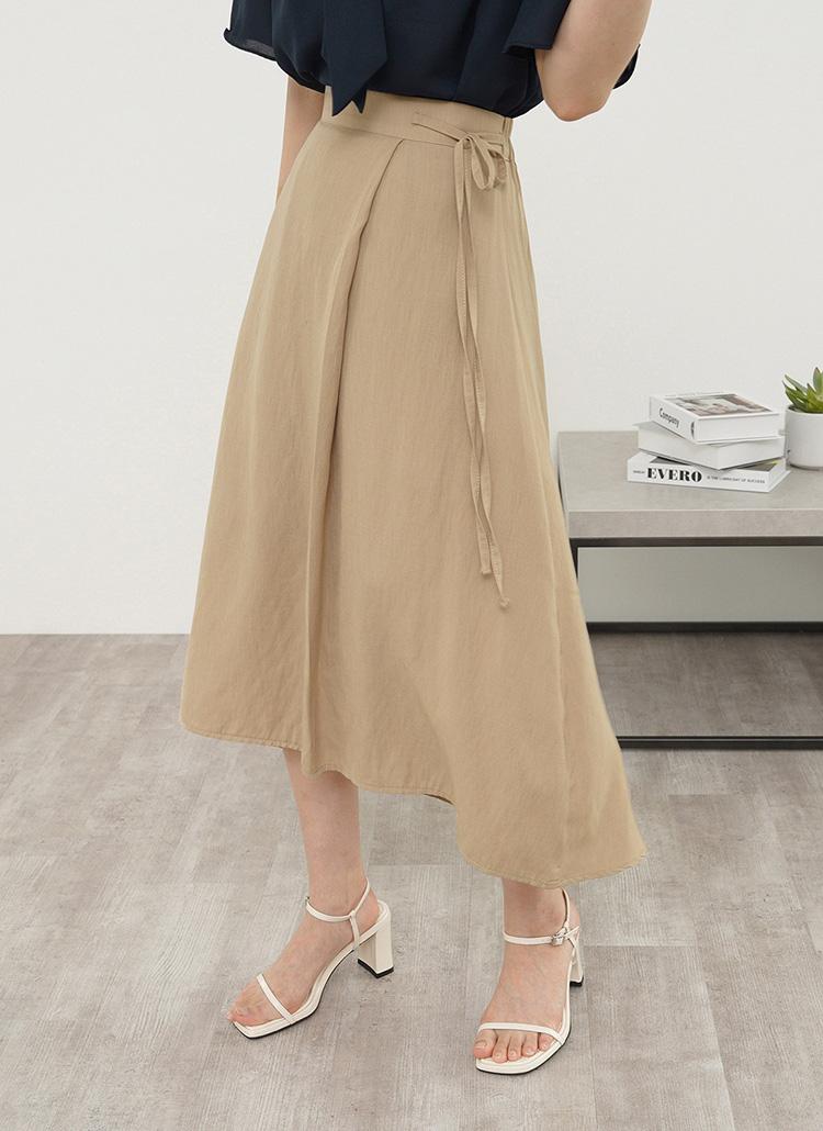 サイドリボンフレアスカート・全3色