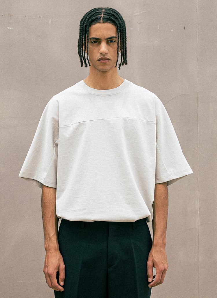バックプレート半袖Tシャツ(LIGHT GRAY)