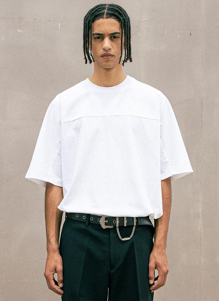 バックプレート半袖Tシャツ(WHITE)