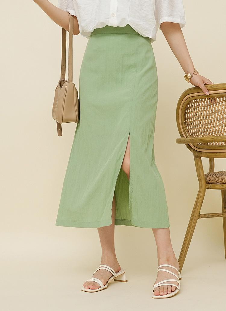 フロントスリットタイトスカート・全3色