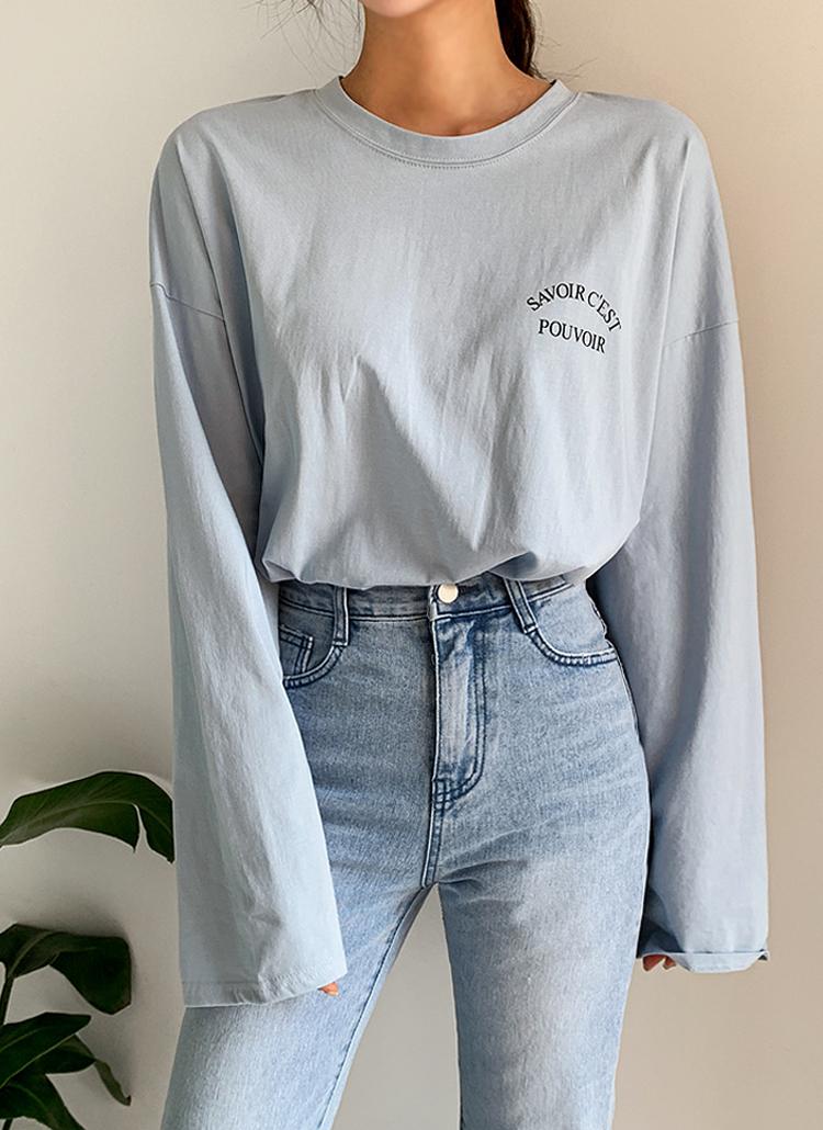 レタリングサイドスリットTシャツ