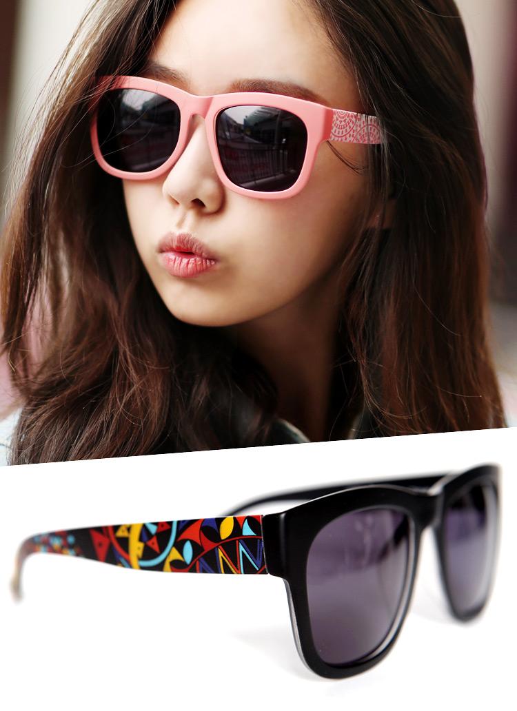 *COLOR-SPARK SUNGLASSES*配色パターンポイントプラスチックサングラス・全6色