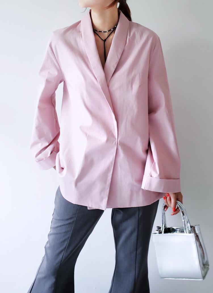 ロールアップワイドスリーブブラウスジャケット・全3色
