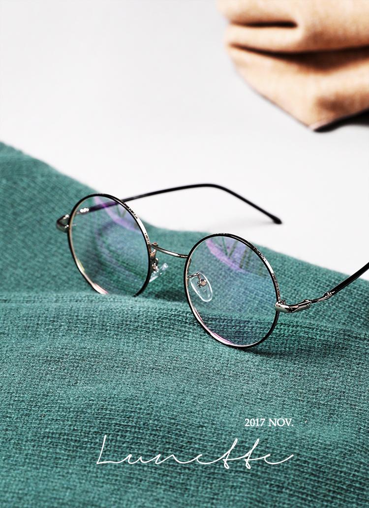 ラウンドフレーム眼鏡・全5色