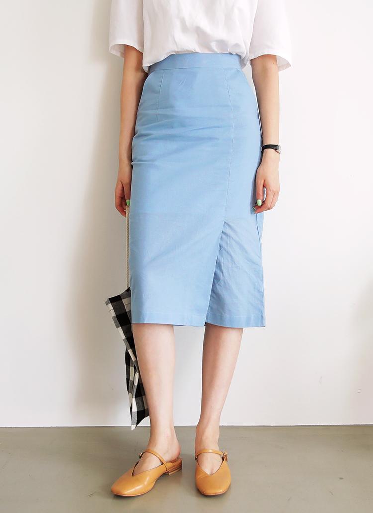 スリットタイトロングスカート・全3色
