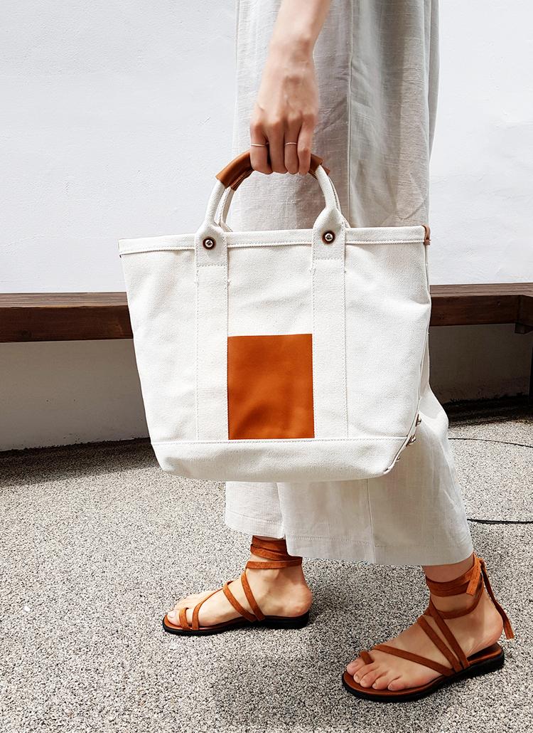 2WAYツーマテリアルバッグ・全2色