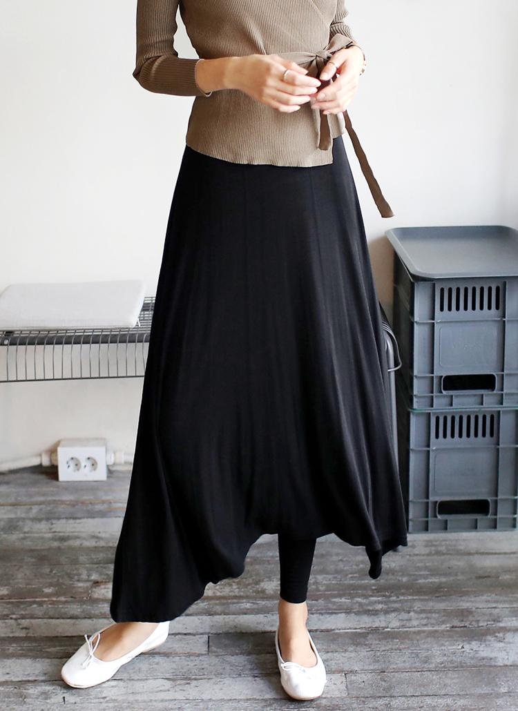 レギンスレイヤードロングスカート・全2色