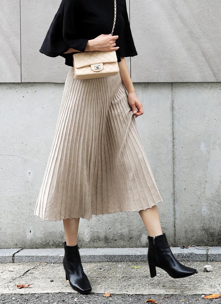 プリーツニットスカート・全2色